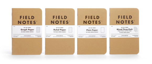 Field Notes Original Kraft Pocket Notebooks