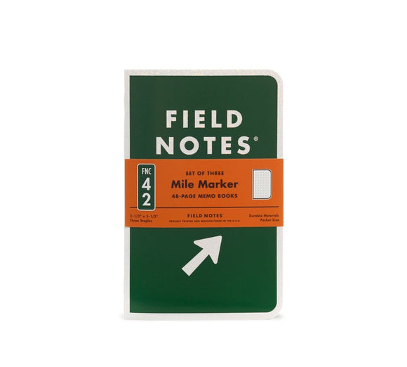 "Field Notes ""Mile Marker"" Pocket Notebooks"