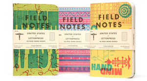"Field Notes ""United States of Letterpress"" Ed Notebooks"