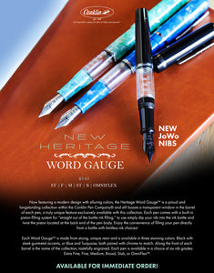 (NEW!) Conklin Word Gauge Heritage Collection