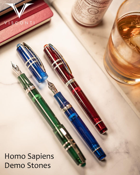 (New!) Visconti Homo Sapiens Stones Demo RB Pens