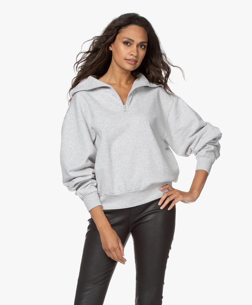 Anine Bing Jalen French Terry Sweatshirt Grey