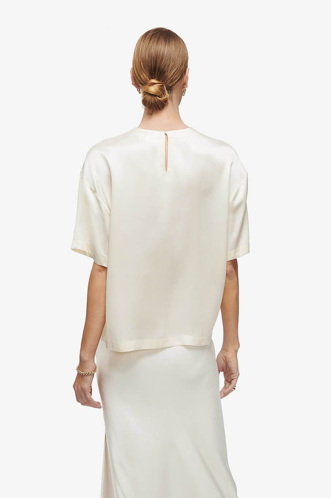 Anine Bing Teagan Top Ivory