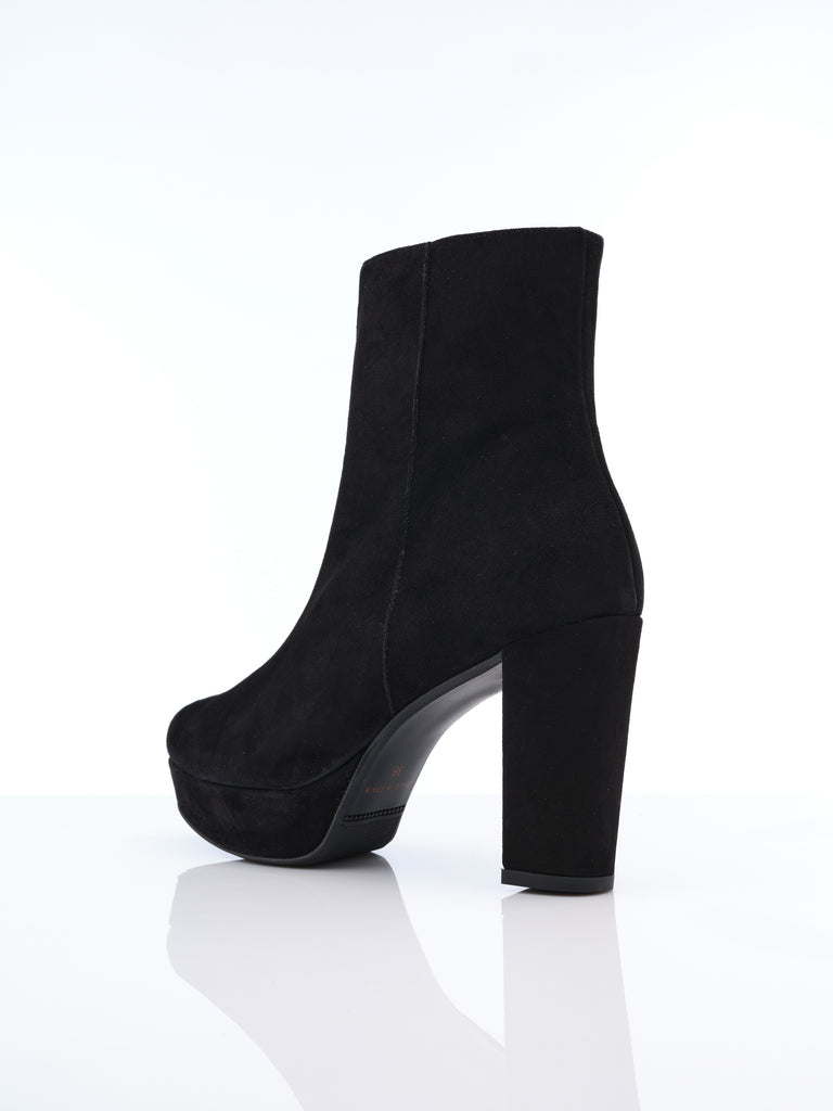 Marian Black Suede Boot