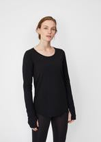 Theo + George Colette Long Sleeve Tee Black