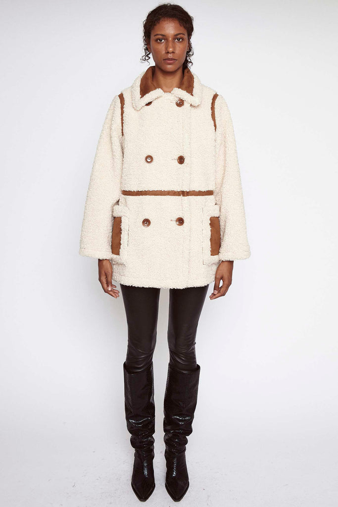 Stand Studio Chloe Jacket Off White/ Tan