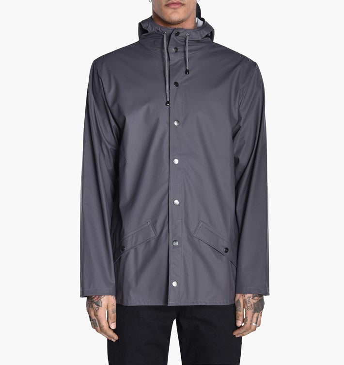 Rains Short Grey Jacket