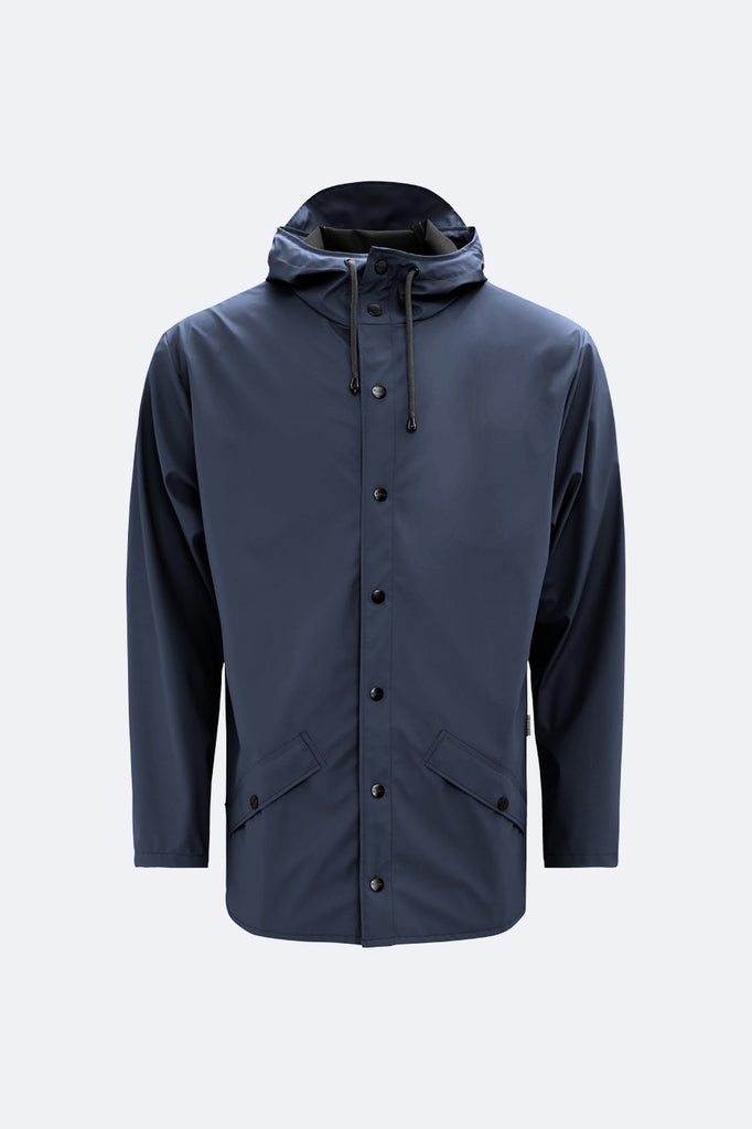 Rains Short Navy Jacket