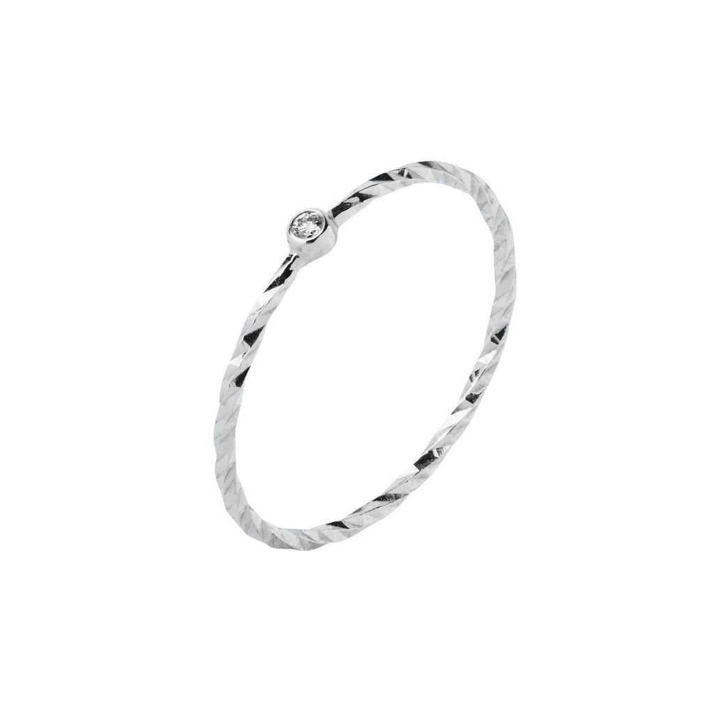 Maria Black Jabari Ring 14K White Gold