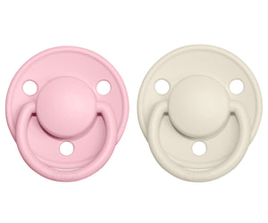 Pack 2 Chupetes De Lux Bibs Ivory/Baby Pink 0-6 M