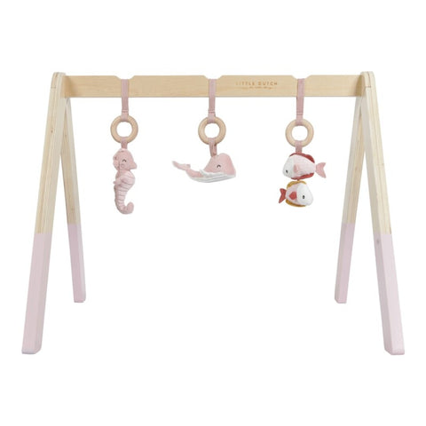Baby Gym con Juguetes Ocean Rosa · Little Dutch