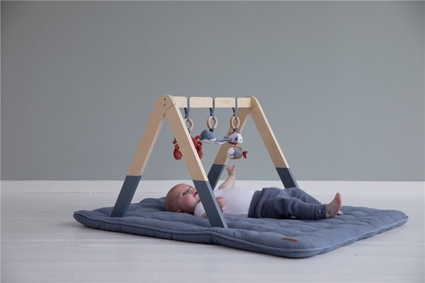 Baby Gym Azul con Juguetes ·  Little Dutch