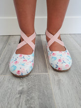 Load image into Gallery viewer, Floral Tea Cups - Sammi-Jo Ballet Flats