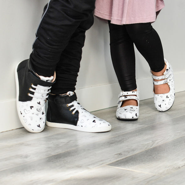 Black Hearts K High Tops