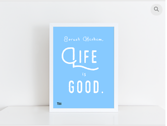 Baruch HaShem Life is Good Poster