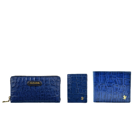 Couple wallet and card case gift set
