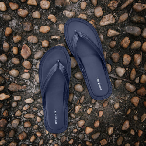 Italian VT Stripe Slippers - Blue