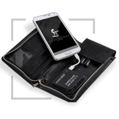 LT-SMART TRAVEL WALLET WITH POWER BANK (2000 mAH)