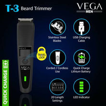 Load image into Gallery viewer, VEGA VHTH-19 Runtime: 90 min Trimmer for Men  (Black)