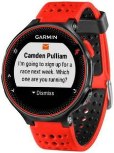 Garmin Forerunner 235 Smartwatch  (Red Strap, Regular)
