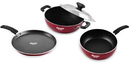 Master Cookware Set  (PTFE (Non-stick), 4 - Piece)