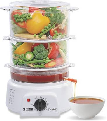 Hilton 3 layer Multi Steam Cooker Food Steamer  (White)