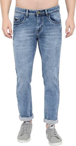 Gods Club  Skinny Men Light Blue Jeans
