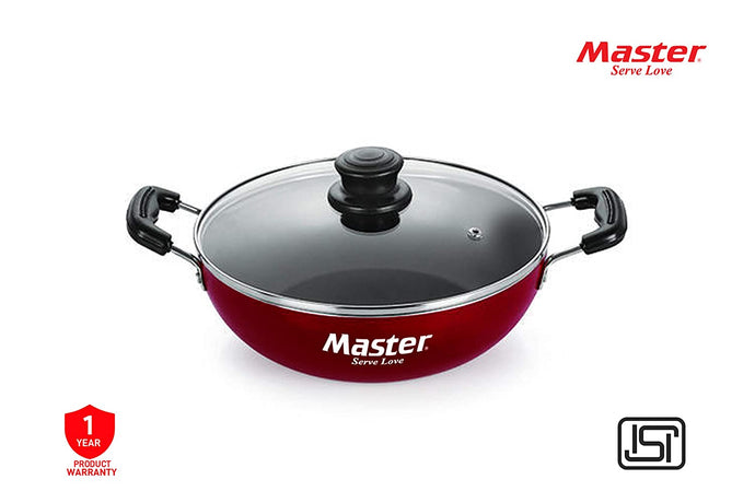 Master Perfect Non-Stick Kadai 3mm (24 cm with Glass Lid) - IndiaCliq