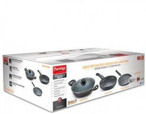 Prestige Omega Deluxe Granite BYK 3PC Set Induction Bottom Cookware Set  (Aluminium, 3 - Piece)
