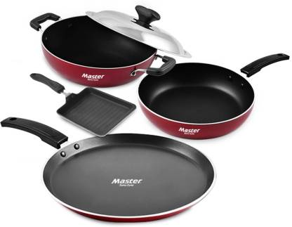 Master Smart Cinco Cookware Set  (PTFE (Non-stick), 5 - Piece)