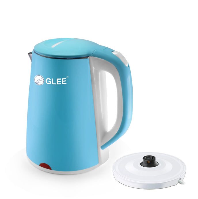 Glee Premium Electric Kettle,1.8Ltr, (Blue Inside Stainless Steel)