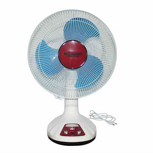 "Orbit Kingshan KL-F0092 12"" Rechargeable Table Fan With USB Charger & LED Light - IndiaCliq"
