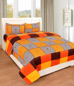 Myra Multicolored Double Bed sheet - IndiaCliq