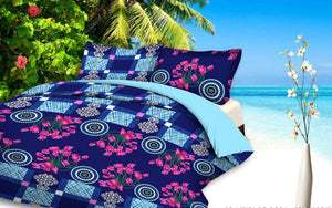 Myra Multicolored Double Bedsheet - IndiaCliq