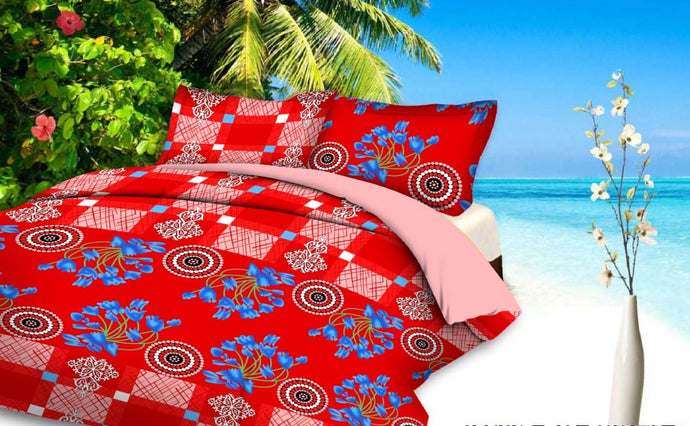 Myra Multicolored Double Bedsheet
