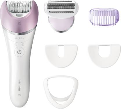 Philips BRE635/00 Cordless Epilator  (White) - IndiaCliq