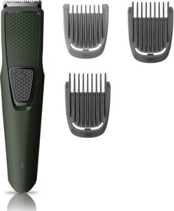 Philips BT1212/15 Runtime: 30 min Trimmer for Men  (Green) - IndiaCliq