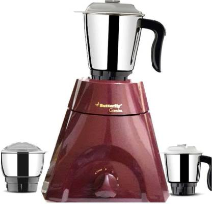 Butterfly Grand Cherry Red Grand 500 Watt Mixer Grinder  (Cherry Red, 3 Jars) - IndiaCliq