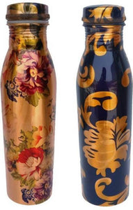 NC Creations 100% Pure Digital Printed Copper Water Bottle  Set Of 2 - IndiaCliq