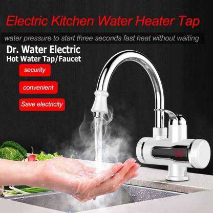 Dr. Water Tankless Instant Water Geyser (Deck Surface Mounted Instant Electric Water Tap) - IndiaCliq
