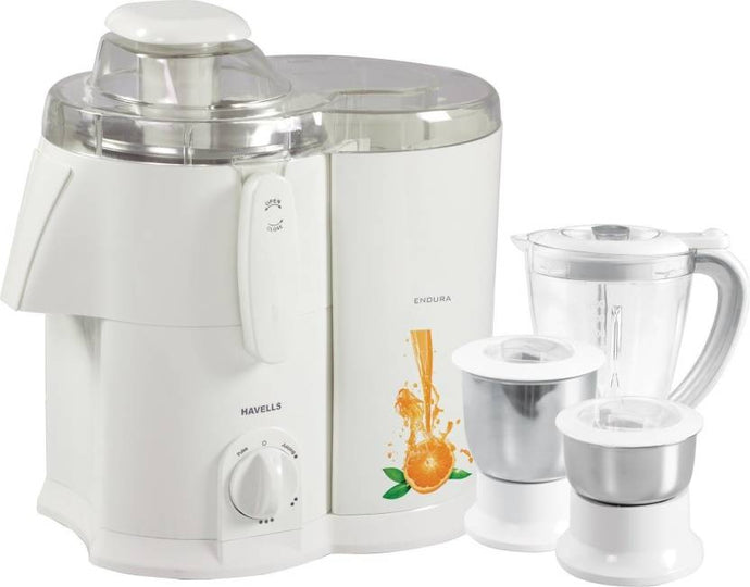 Havells Endura GHFJMAHW050 500-Watt Juicer Mixer Grinder with 3 Jars (White) - IndiaCliq