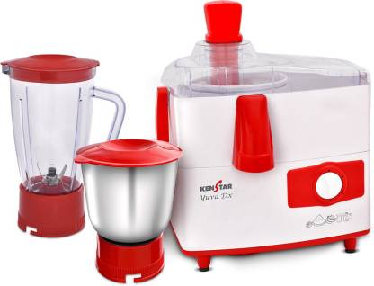 Kenstar YUVA DX KJYUD45R2P-DJS 450 Juicer Mixer Grinder  (WHITE & CHEERY RED, 2 Jars) - IndiaCliq