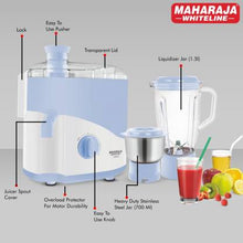 Load image into Gallery viewer, Maharaja Whiteline Odacio JX1-149 450 W Juicer Mixer Grinder  (White, Blue, 2 Jars) - IndiaCliq