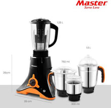 Load image into Gallery viewer, Master Delta Plus Del s 750 Juicer Mixer Grinder  (Black, 4 Jars) - IndiaCliq