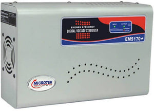 Microtek EM5170+  2Ton AC Voltage Stabilizer  (Metallic Grey) - IndiaCliq