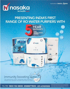Nasaka Tulip A1 8 L RO Water Purifier with OrpH+ technology - IndiaCliq