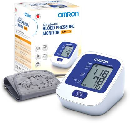 Omron HEM-8712 Bp Monitor  (White)