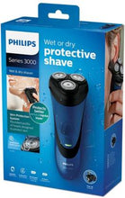 Load image into Gallery viewer, Philips S3350/06 Shaver For Men  (Black, Blue)