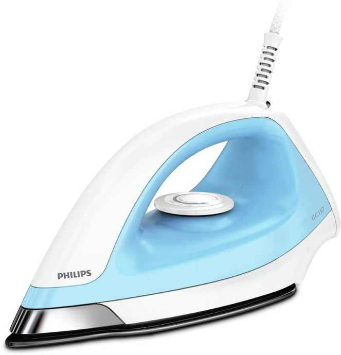 Philips GC157/02 Dry Iron  (White, Blue) - IndiaCliq