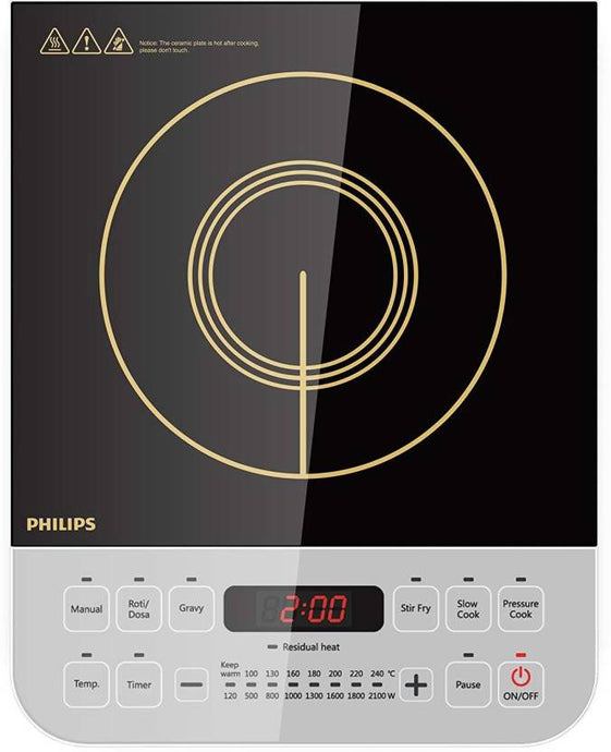 Philips HD4928/01 Induction Cooktop  (Black, Push Button)-Open box - IndiaCliq